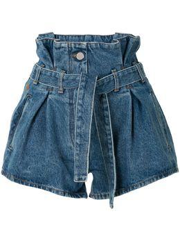 The Attico джинсовые шорты с присборенной талией 201WCP02