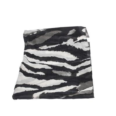Roberto Cavalli Monochrome Abstract Animal Print Silk Scarf 292730 - 1
