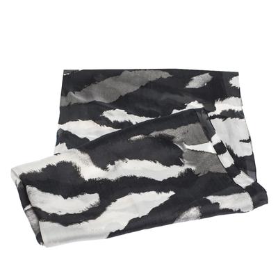 Roberto Cavalli Monochrome Abstract Animal Print Silk Scarf 292730 - 3