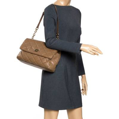 Dolce&Gabbana Brown Quilted Leather Miss Kate Shoulder Bag 294404 - 1