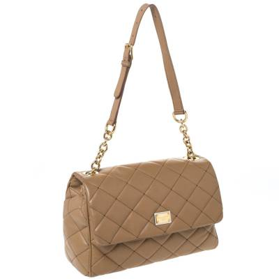 Dolce&Gabbana Brown Quilted Leather Miss Kate Shoulder Bag 294404 - 2