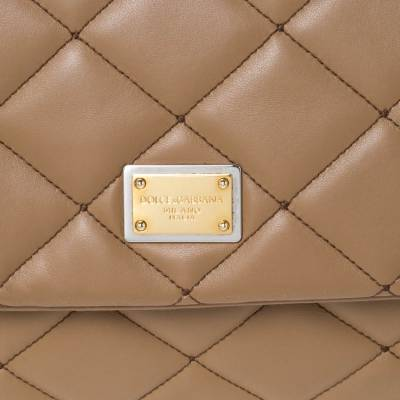 Dolce&Gabbana Brown Quilted Leather Miss Kate Shoulder Bag 294404 - 4