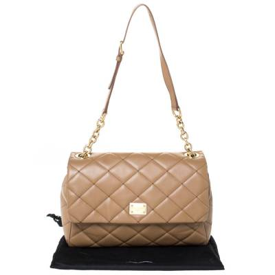 Dolce&Gabbana Brown Quilted Leather Miss Kate Shoulder Bag 294404 - 9