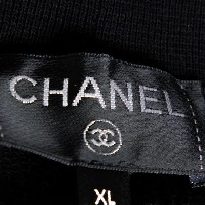 Chanel Black Printed & Embellished Cotton Long Sleeve Sweatshirt XL 292391 - 3