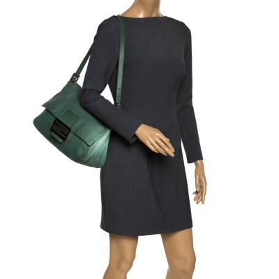 Fendi Green Iridescent Leather Mama Forever Large Flap Shoulder Bag 292704 - 1