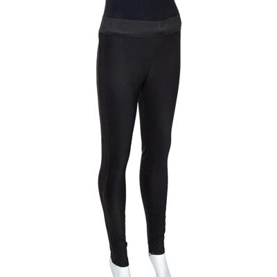 Stella McCartney Black Knit Elasticized Waist Iconic Heather Leggings S 292497 - 1