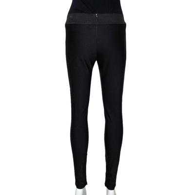 Stella McCartney Black Knit Elasticized Waist Iconic Heather Leggings S 292497 - 2