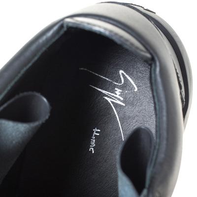 Giuseppe Zanotti Design Black Matte Leather High Top Lace Up Sneakers 44 294436 - 6