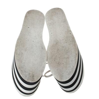Gucci Black Leather Peggy Web Detail Platform Sneakers Size 38 294437 - 5