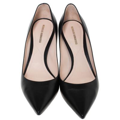Nicholas Kirkwood Black Leather Maeva Pumps Size 38 294431 - 2