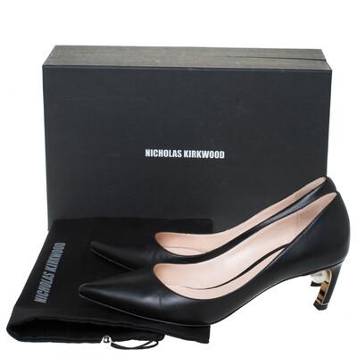 Nicholas Kirkwood Black Leather Maeva Pumps Size 38 294431 - 7