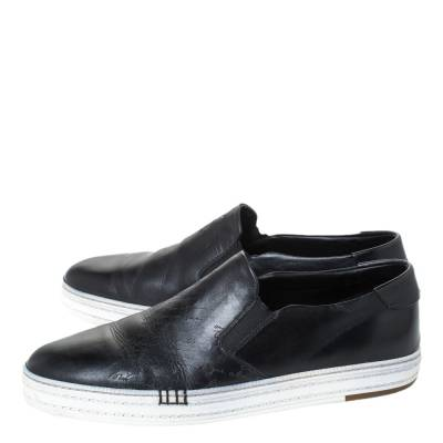 Berluti Black Leather Playtime Palermo Scritto Slip On Sneaker Size 43.5 294432 - 3