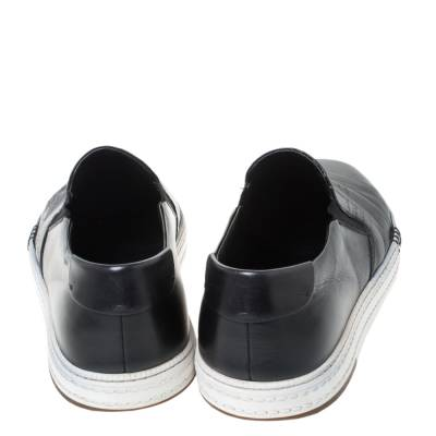 Berluti Black Leather Playtime Palermo Scritto Slip On Sneaker Size 43.5 294432 - 4