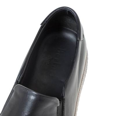 Berluti Black Leather Playtime Palermo Scritto Slip On Sneaker Size 43.5 294432 - 6