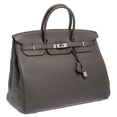 Hermes Etain Togo Leather Palladium Hardware Birkin 40 Bag 292540 - 2