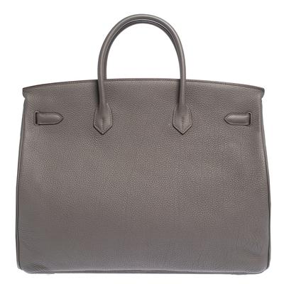 Hermes Etain Togo Leather Palladium Hardware Birkin 40 Bag 292540 - 3