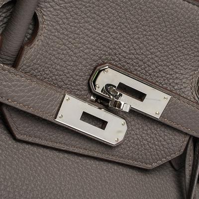 Hermes Etain Togo Leather Palladium Hardware Birkin 40 Bag 292540 - 5