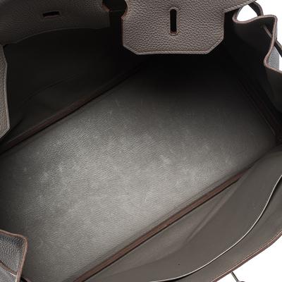 Hermes Etain Togo Leather Palladium Hardware Birkin 40 Bag 292540 - 8