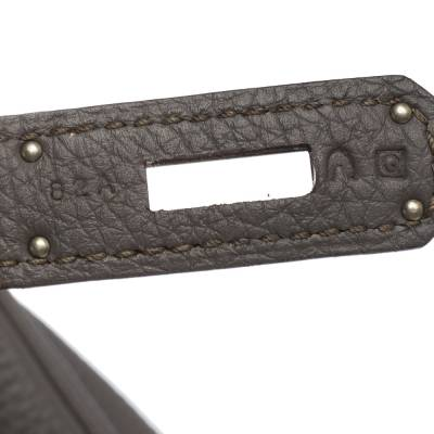 Hermes Etain Togo Leather Palladium Hardware Birkin 40 Bag 292540 - 9