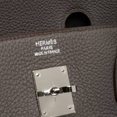 Hermes Etain Togo Leather Palladium Hardware Birkin 40 Bag 292540 - 10
