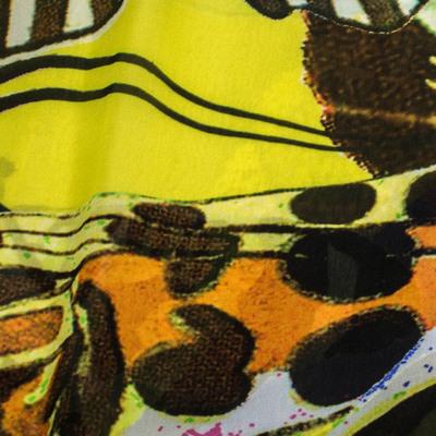 Roberto Cavalli Multicolor Butterfly Print Silk Scarf 292752 - 2