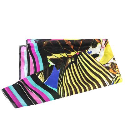 Roberto Cavalli Multicolor Butterfly Print Silk Scarf 292752 - 3