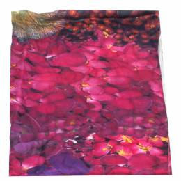 Roberto Cavalli Mauve Floral Printed Silk Scarf 292712