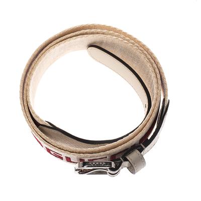 Gucci Off White Fabric Logo Belt 100CM 294235 - 2