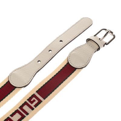 Gucci Off White Fabric Logo Belt 100CM 294235 - 3