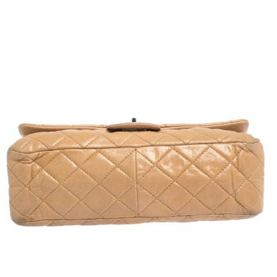 Chanel Beige Quilted Iridescent Leather Reissue 2.55 Classic 227 Flap Bag 294232 - 5