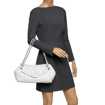 Chanel White Leather Sensual Accordion Flap Bag 294228 - 1