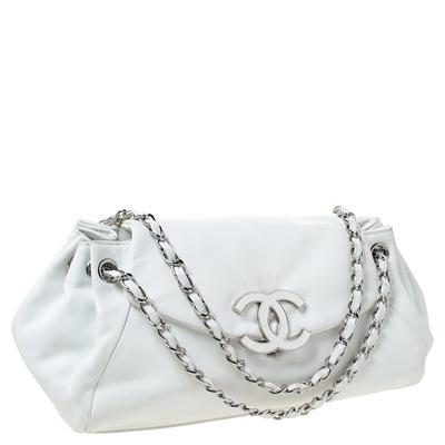 Chanel White Leather Sensual Accordion Flap Bag 294228 - 2
