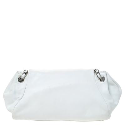 Chanel White Leather Sensual Accordion Flap Bag 294228 - 3