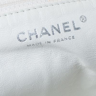 Chanel White Leather Sensual Accordion Flap Bag 294228 - 8