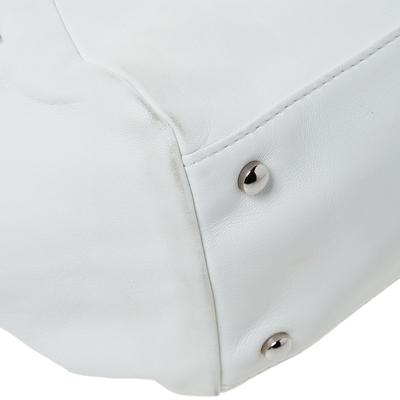 Chanel White Leather Sensual Accordion Flap Bag 294228 - 9