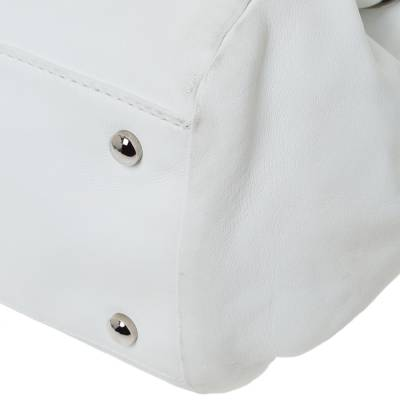 Chanel White Leather Sensual Accordion Flap Bag 294228 - 10