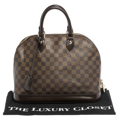 Louis Vuitton Damier Ebene Canvas Alma MM Bag 294224 - 8