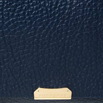 Burberry Blue Grained Leather Mildenhall Shoulder Bag 294223 - 4