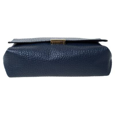 Burberry Blue Grained Leather Mildenhall Shoulder Bag 294223 - 5