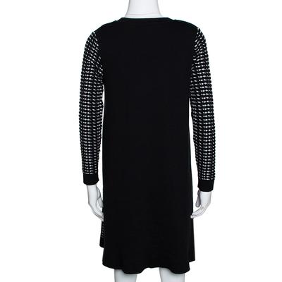 M Missoni Monochrome Textured Knit Shift Dress S 292514 - 2