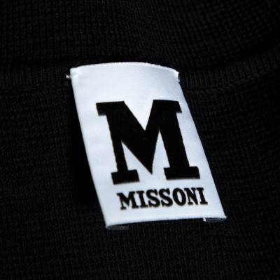 M Missoni Monochrome Textured Knit Shift Dress S 292514 - 4