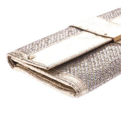 Jimmy Choo Gold Metallic Leather and Glitter Reese Clutch 294210 - 9