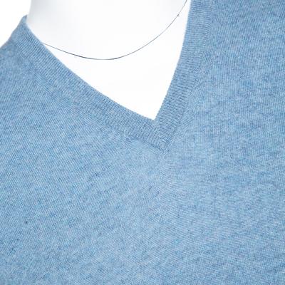 Ermenegildo Zegna Light Blue Cashmere V-Neck Sweater M 294215 - 3
