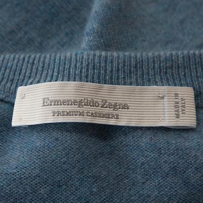 Ermenegildo Zegna Light Blue Cashmere V-Neck Sweater M 294215 - 4