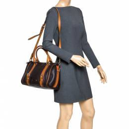 Burberry Brown Leather Alchester Bowler Bag 294676