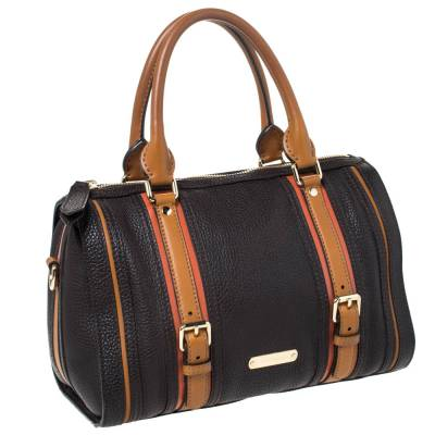 Burberry Brown Leather Alchester Bowler Bag 294676 - 2