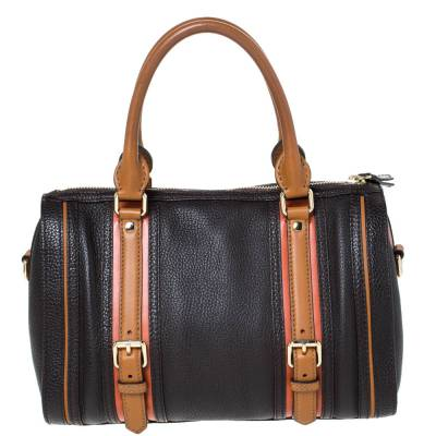 Burberry Brown Leather Alchester Bowler Bag 294676 - 3