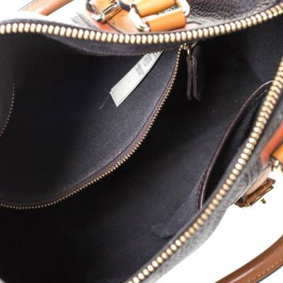Burberry Brown Leather Alchester Bowler Bag 294676 - 6
