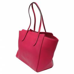 Gucci Pink Leather Small Swing Tote Bag 293809