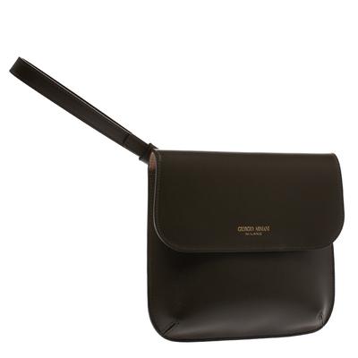 Giorgio Armani Khaki Green Wristlet Clutch 294205 - 2